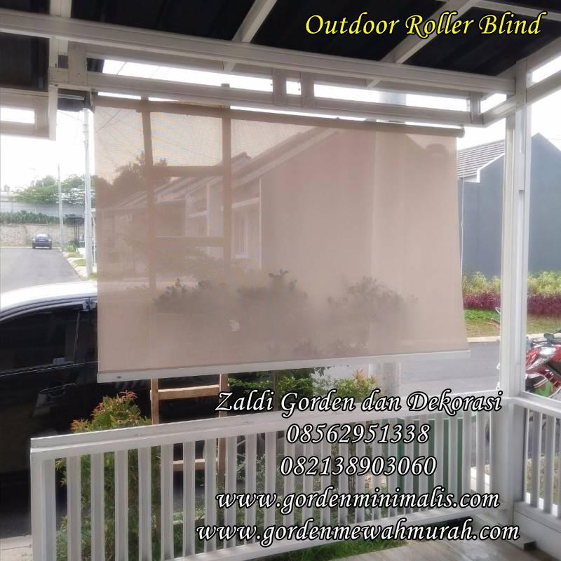 gorden sunscreen roller blind untuk tirai outdoor restauran dan hotel