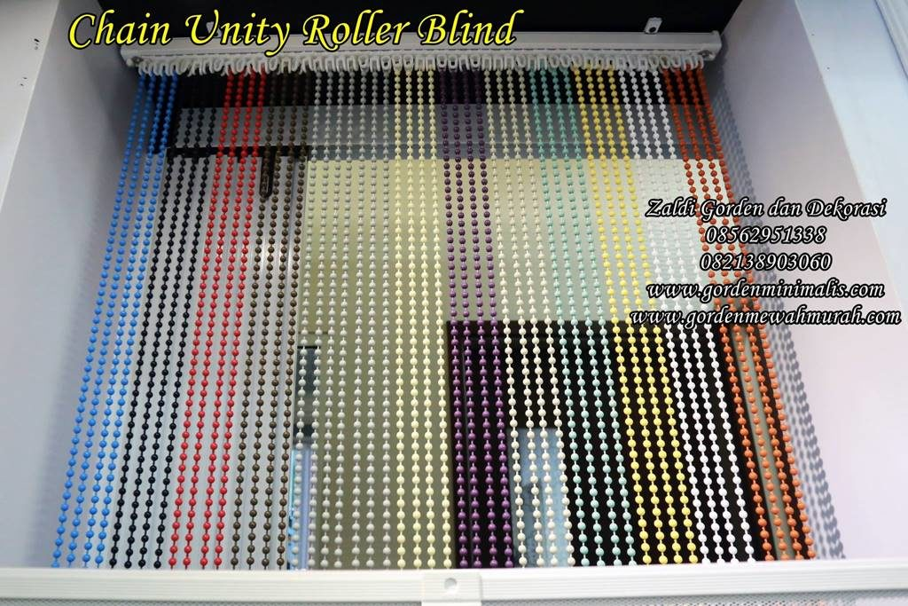 Pilihan warna gorden roller blind blackout unity chain