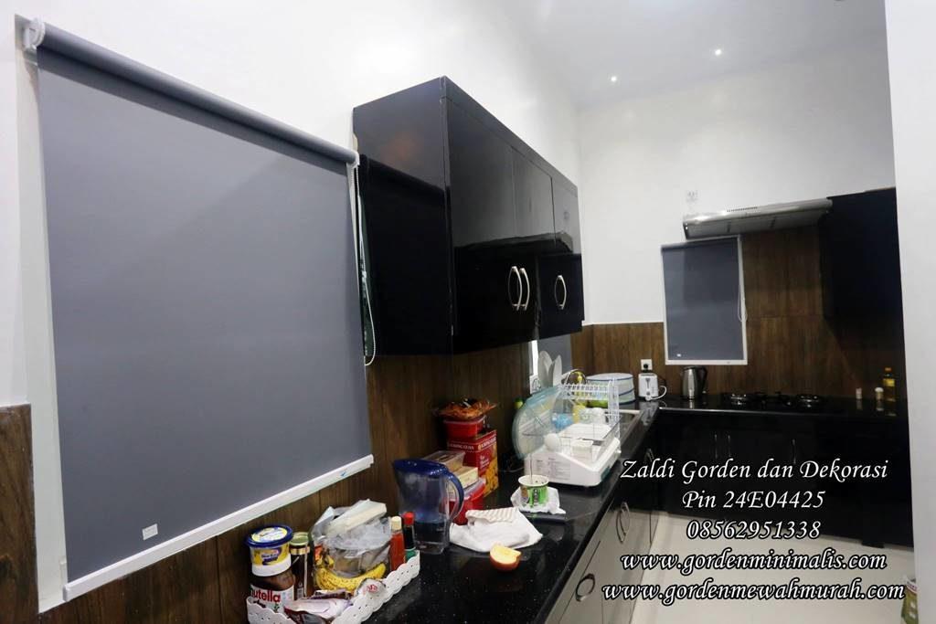 gorden dapur dapat menggunakan gorden roller blind blackout