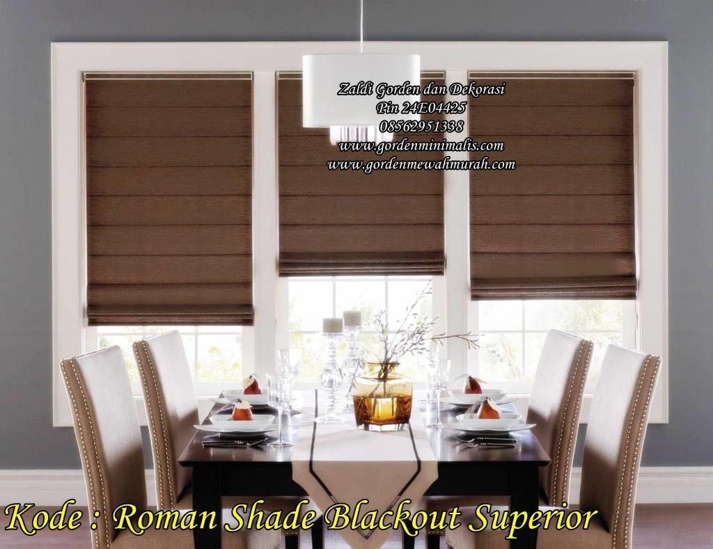 pilihan warna Gorden Roman Shade roller blind gorden lipat minimalis