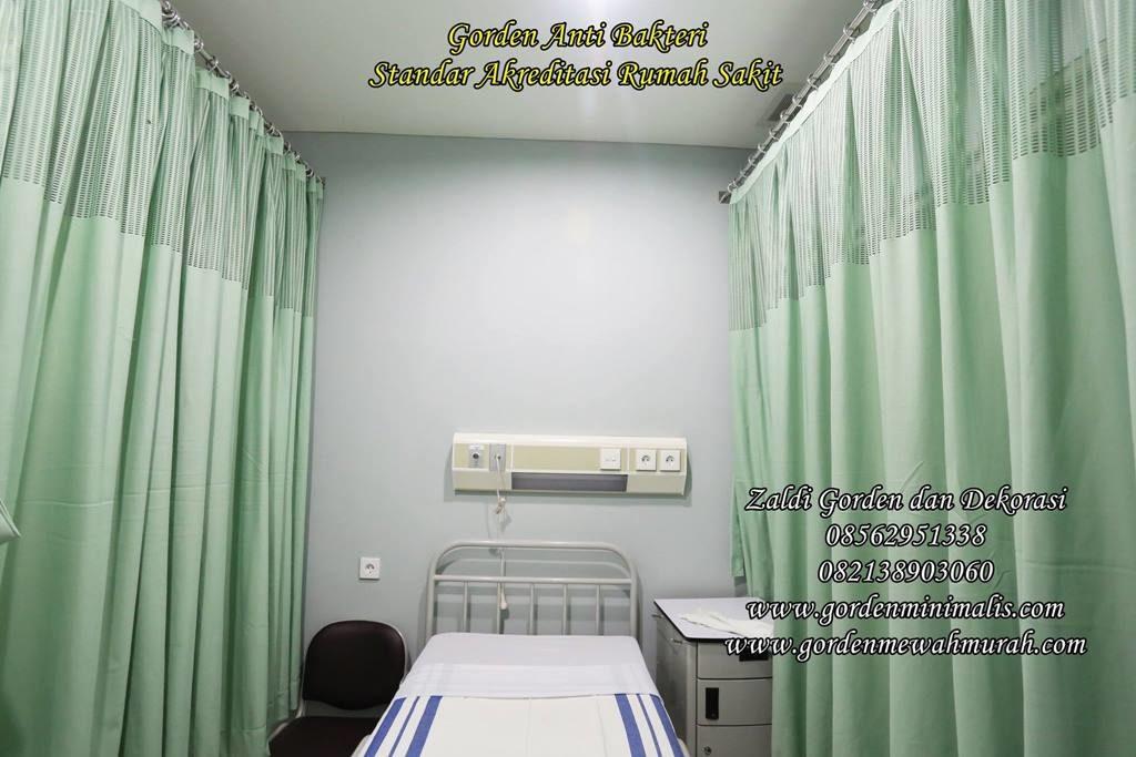 Gorden rumah sakit bahan anti bakteri penyekat ruang PACU