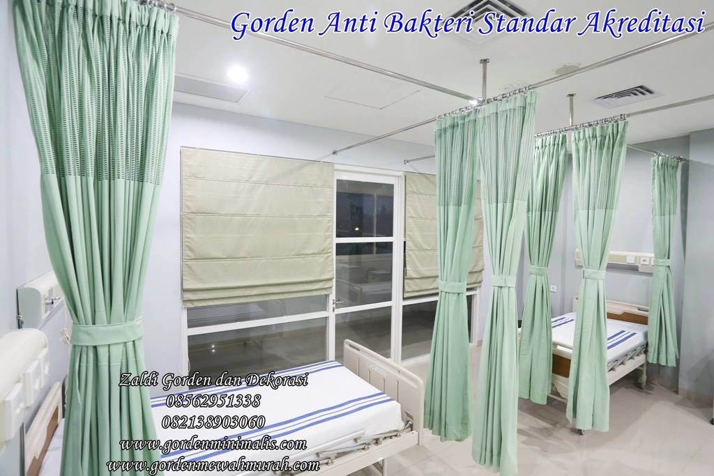 gorden rumah sakit bahan anti bakteri ZIT