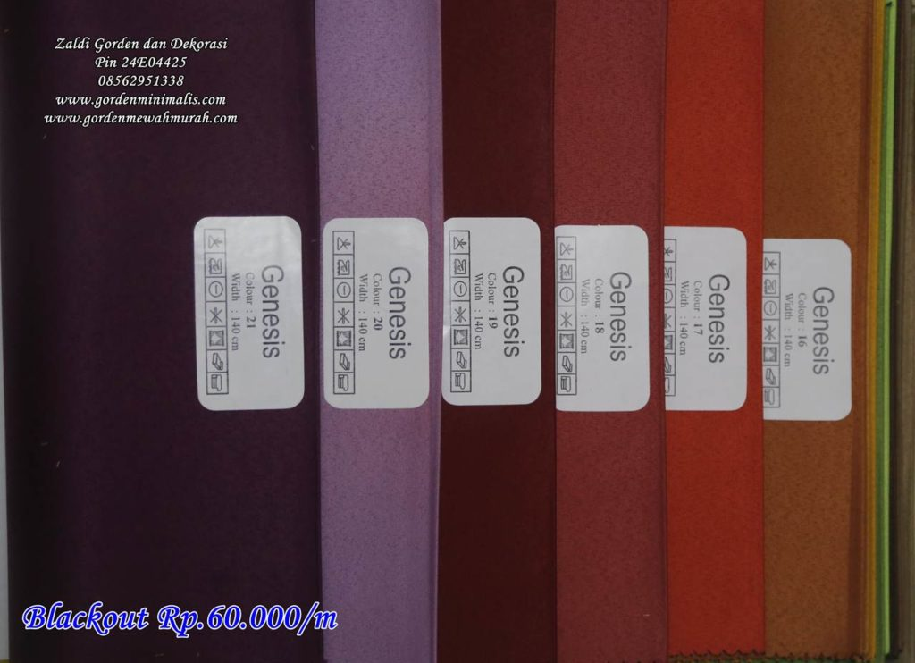 Pilihan warna kain gorden blackout