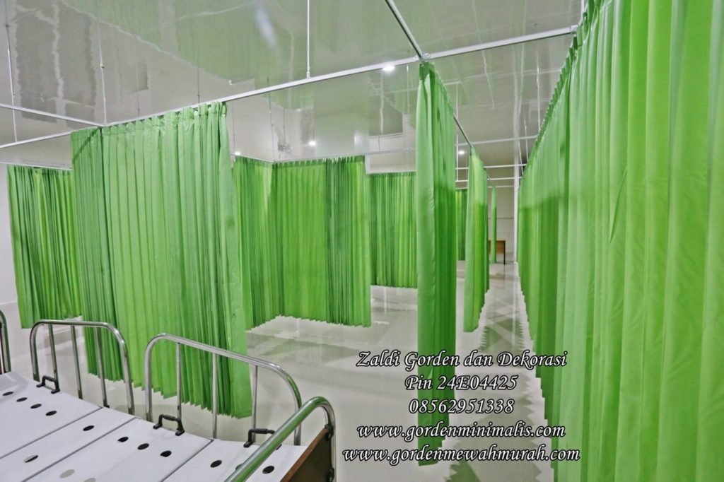Gorden penyekat rumah sakit bahan pvc anti noda ruang tindakan