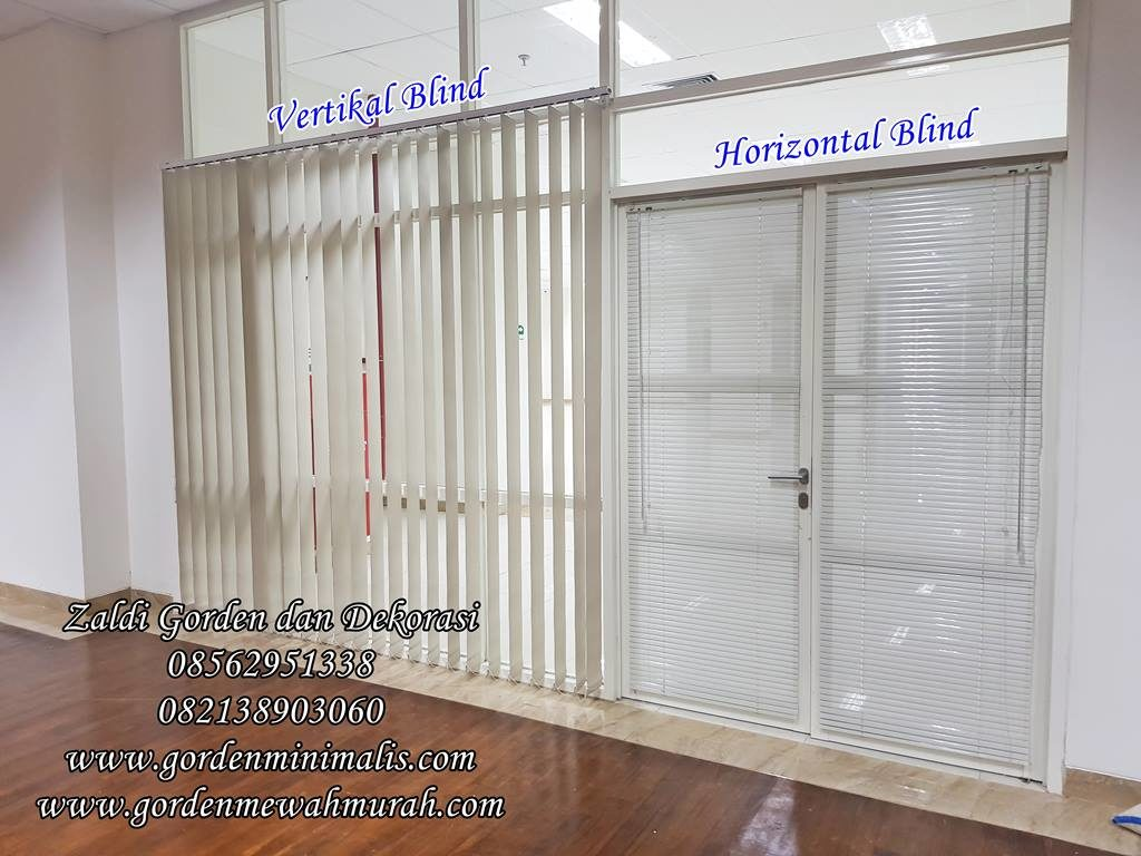 gorden vertikal blind dan gorden horizontal blind untuk kantor