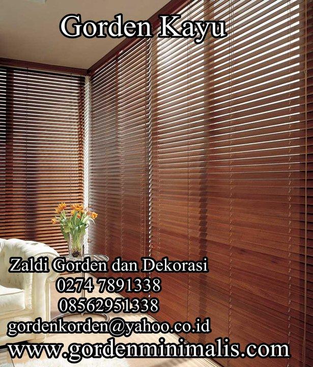 gorden kayu wooden blind krey kayu etnic classic