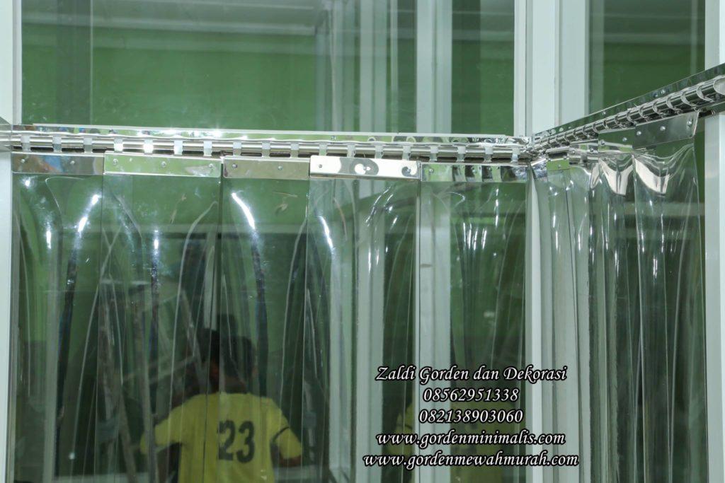 Rel stainless bracket PVC Strip curtain gorden plastik