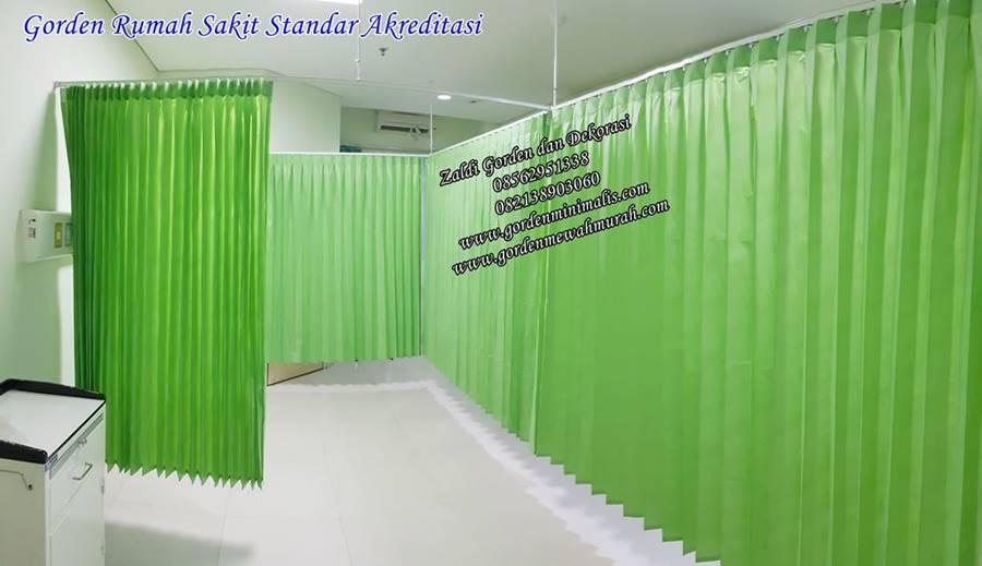 gorden rumah sakit bahan pvc anti noda ruang resusitasi