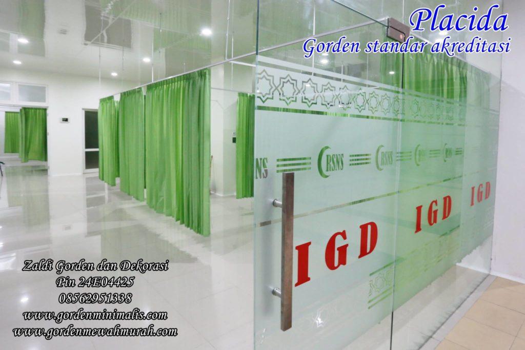 Gorden rumah sakit bahan anti noda untuk UGD IGD