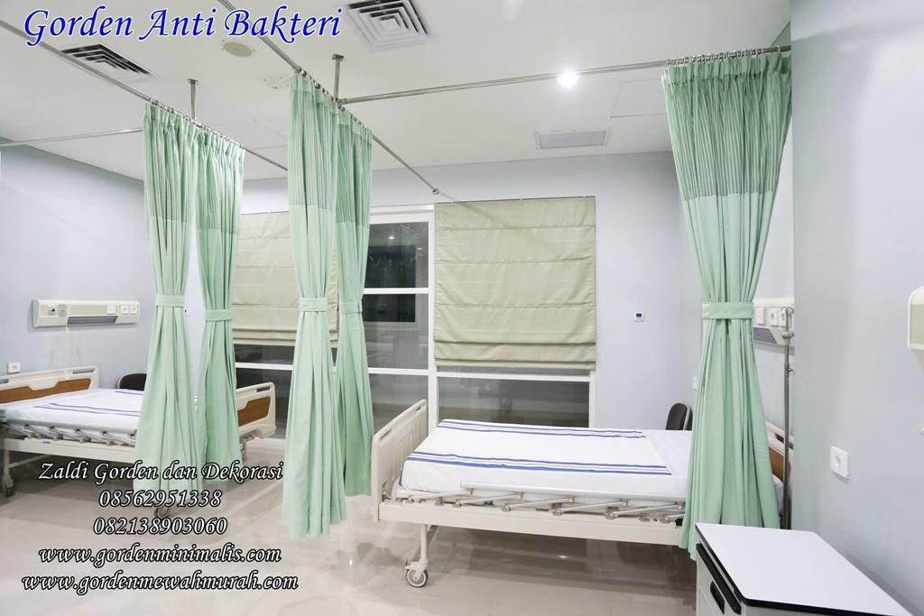 Tirai gorden penyekat ruang ICU atau CCU Rumah sakit