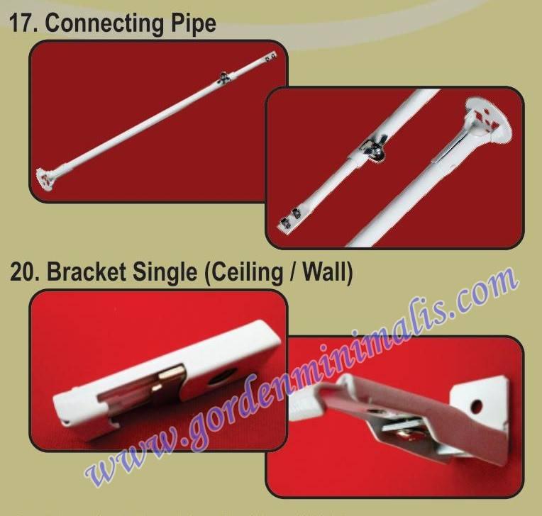 connecting pipe / pipa penyambung : berfungsi menahan hospital track sehingga mampu terhubung ke atap