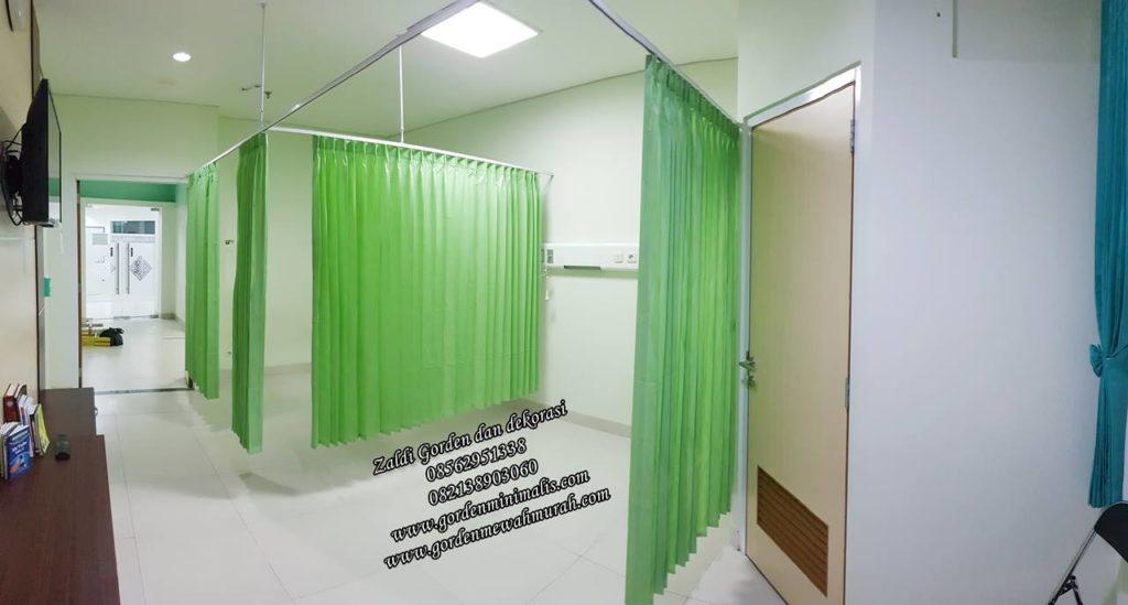 Tirai Gorden sekat rumah sakit bahan PVC anti noda anti bakteri