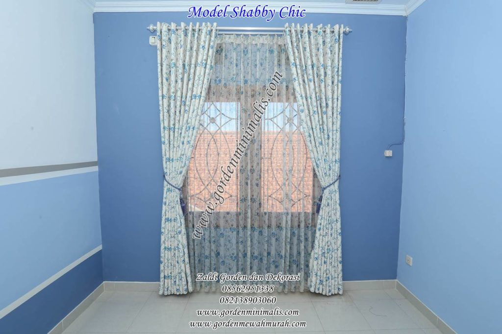 Gorden Shabby chic model smokering bahan dimout