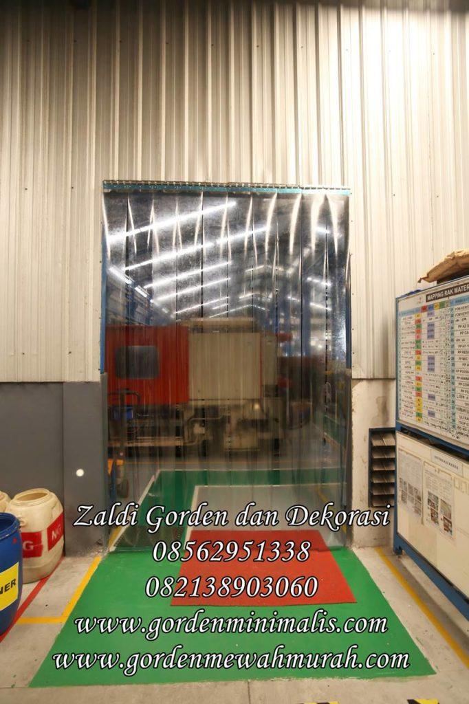 Tirai Gorden plastik transparan untuk ruang bersih pabrik industri