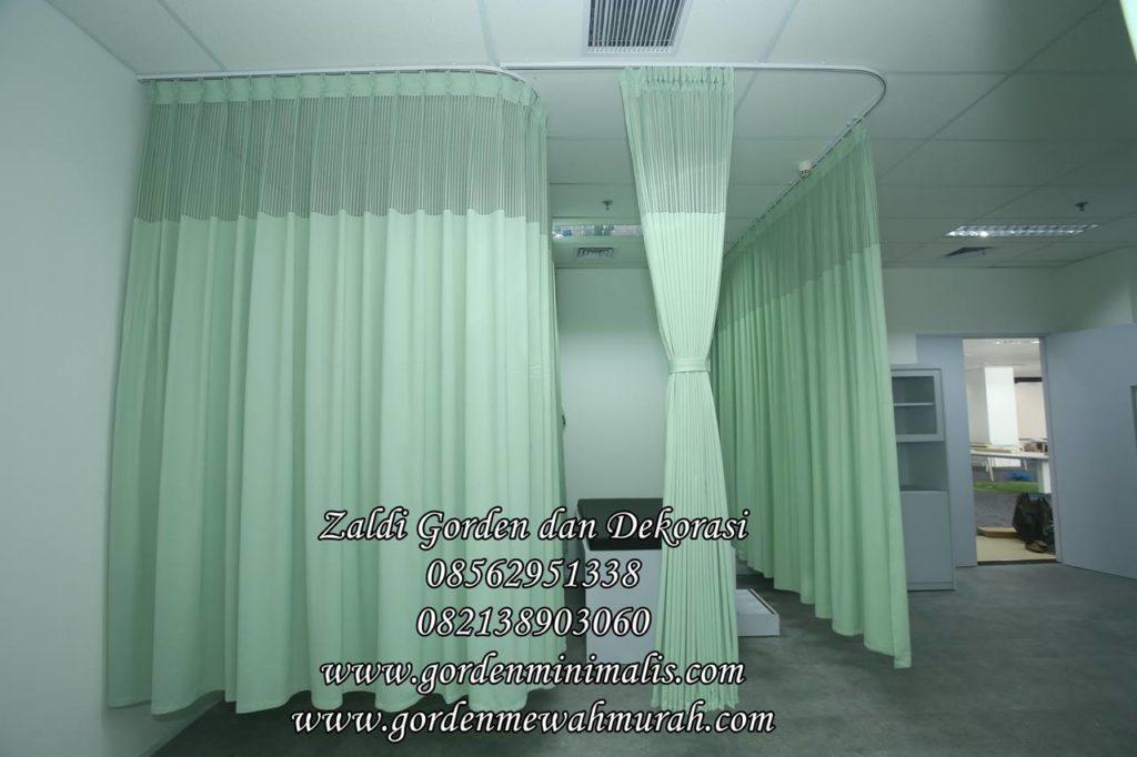 Gorden rumah sakit bahan anti bakteri sekat ruang rawat inap