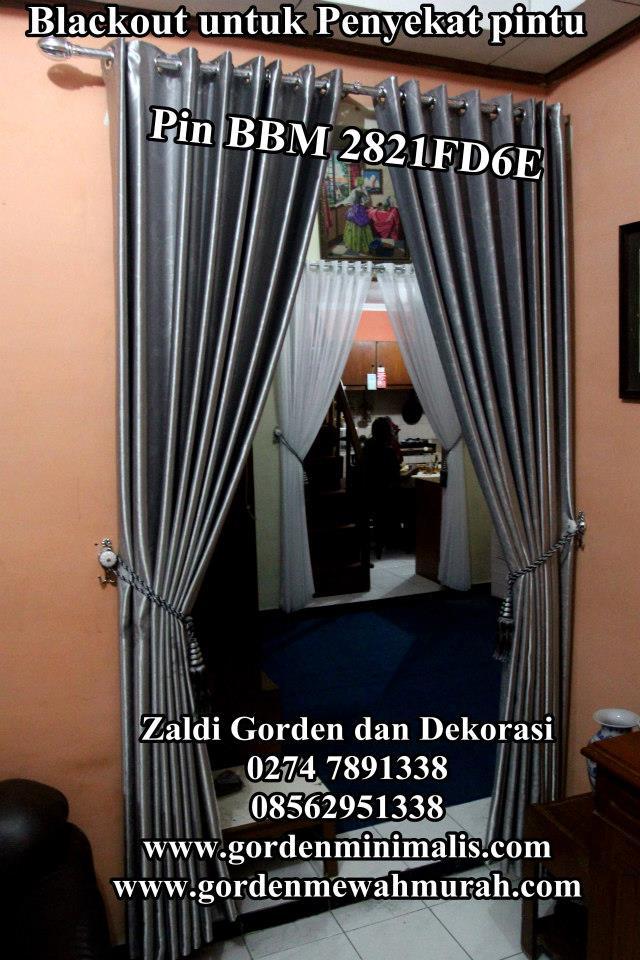 tirai Gorden penyekat ruangan