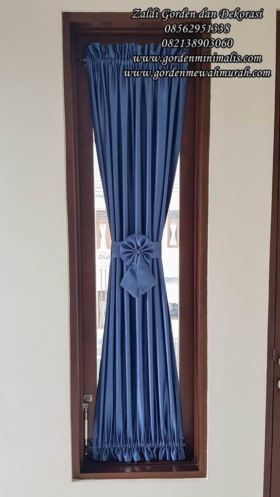Gorden minimalis untuk jendela kecil