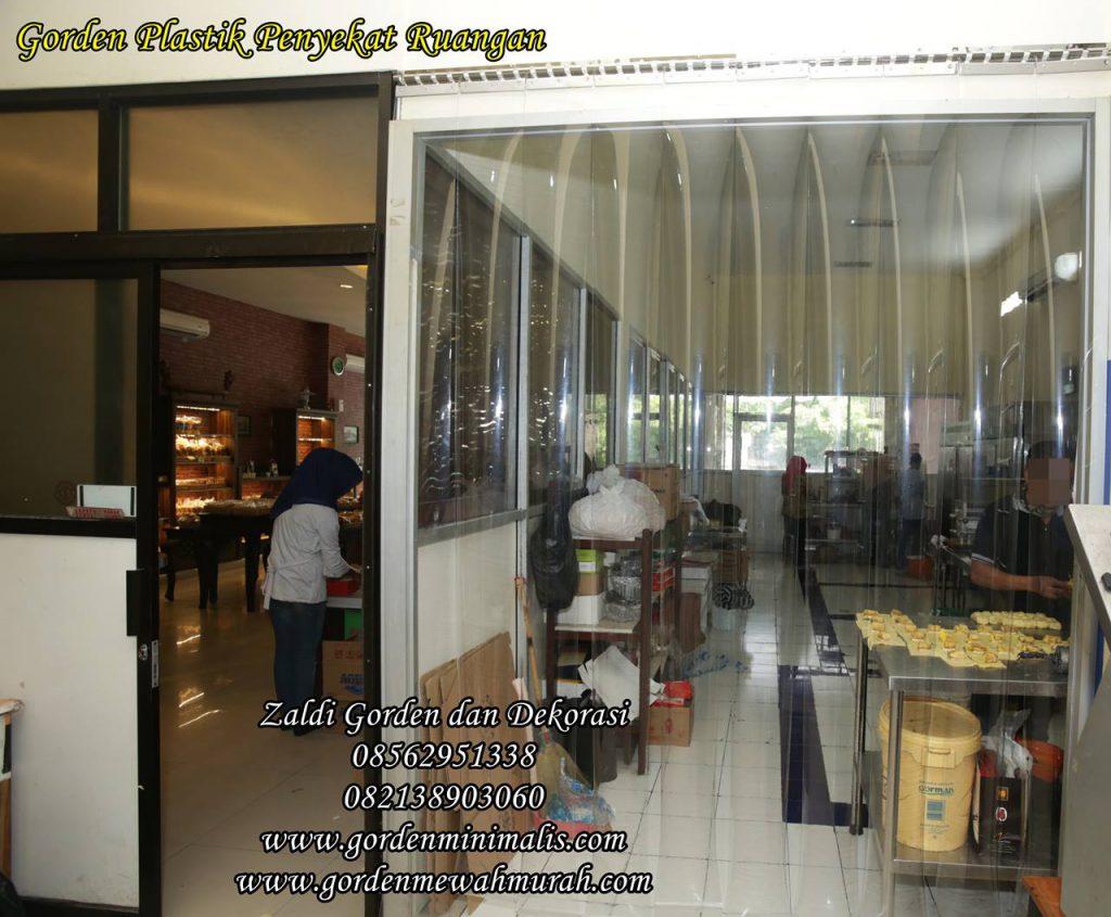 Gorden PVC untuk dapur restoran