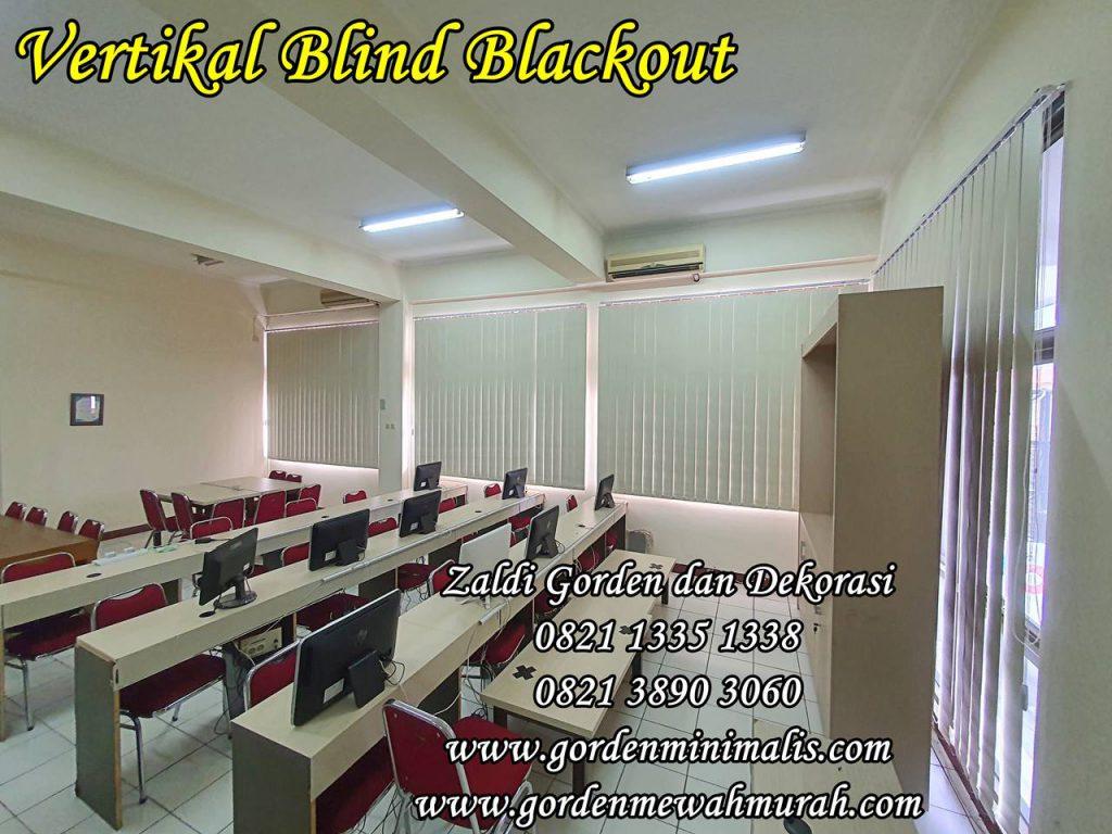 Gorden Vertikal Blind blackout untuk dikantora