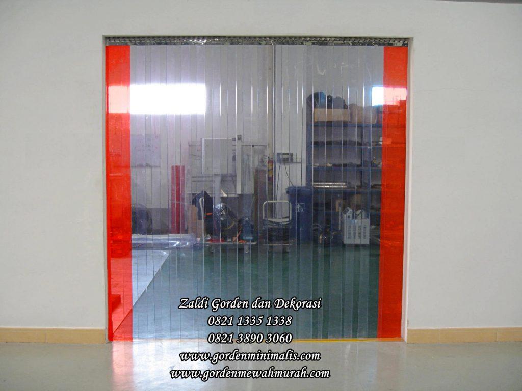 PVC Strip Curtain Gorden pvc Plastik transparan untuk penyekat