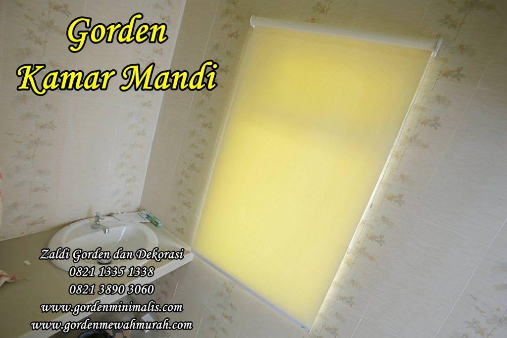 Gorden Kamar mandi roller blind blackout tahan air