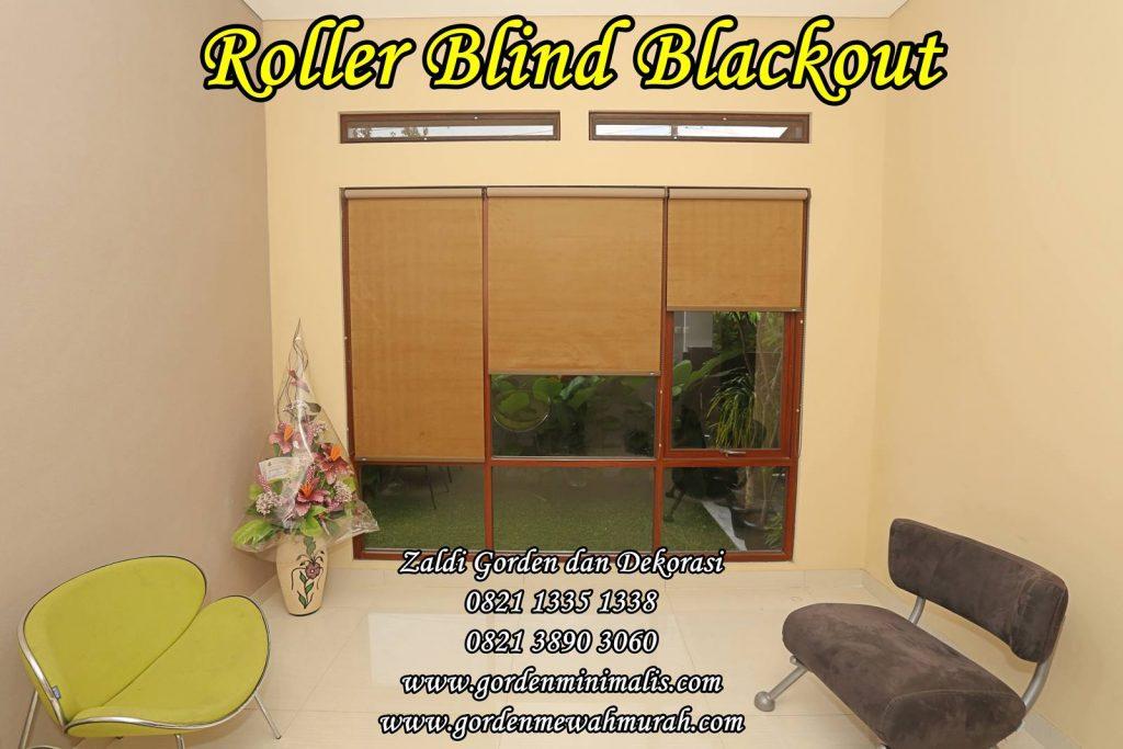 Roller Blind kantor murah bahan blackout