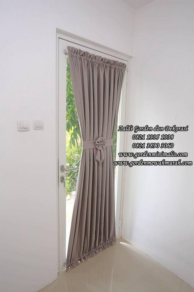 Gorden Pintu kaca jendela kecil model pita bahan blackout