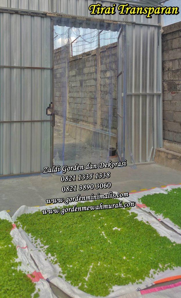 Tirai Plastik Trasnparan untuk pintu keluar masuk