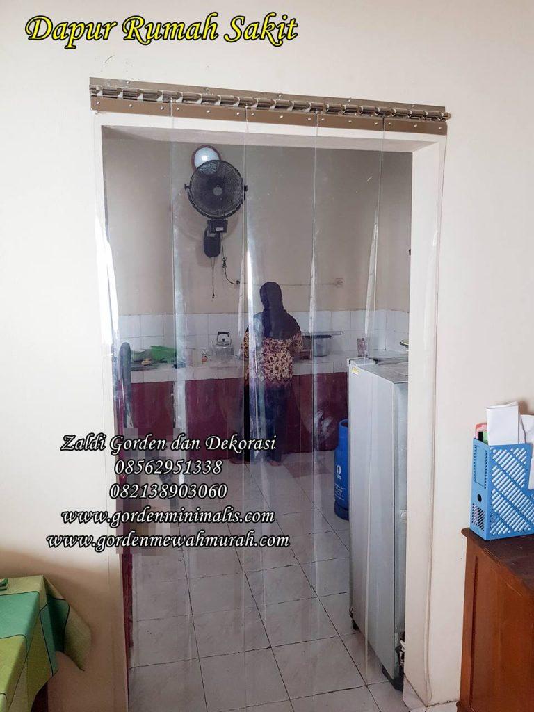 Tirai Plastik transparan untuk pintu keluar masuk